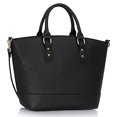 Womens Oversized Designer Shoulder Faux Leather Bags Stylish Shopper Handbags
