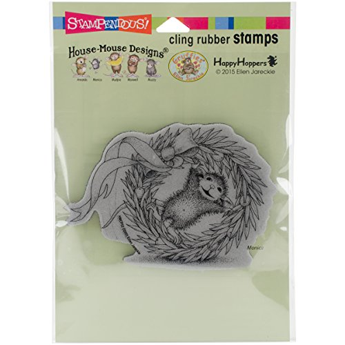 Stampendous HMCP52 House Mouse Cling Rubber Stamp, Wreath Rolling (Rubber Stamps House Mouse compare prices)