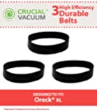Oreck Vacuum XL Upright Vacuum Replacement Belts 3-pack, Replaces Oreck Vacuum Part #030-0604, XL010-0604, Designed and Engineered by Crucial Vacuum