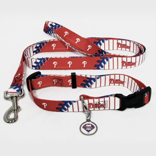 Philadelphia Phillies Dog Pet Set Leash Collar ID Tag XS at Amazon.com