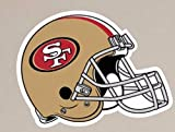 San Francisco 49ers FATHEAD Helmet Logo Official NFL Vinyl Wall Graphic 15″x12″