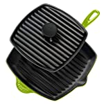 Le Creuset Enameled Cast-Iron Grill Pan Set, Kiwi