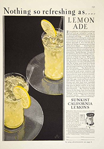 1929-ad-sunkist-california-lemons-lemonade-juicer-kitchen-appliance-glasses-ygh2-original-print-ad
