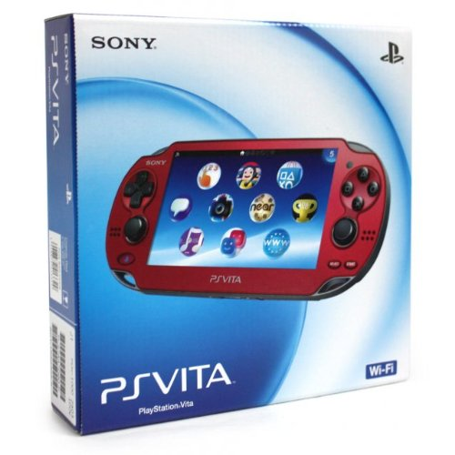 Cosmic Red Sony PlayStation PS Vita Portable Handheld Game System Console [REGION FREE Wi-Fi MODEL]