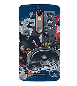 PrintVisa LENVK4NOTE-Music Modern Art Plastic Back Cover (Multicolor)
