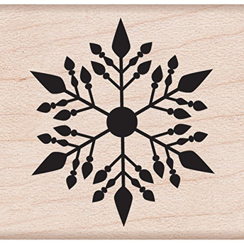 "Hero Arts Small Snowflake Mounted Rubber Stamp, 2.25"" by 2.25"""