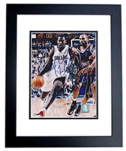 Michael Finley Autographed Hand Signed Dallas Mavericks 8x10 Photo BLACK CUSTOM FRAME by Real Deal Memorabilia
