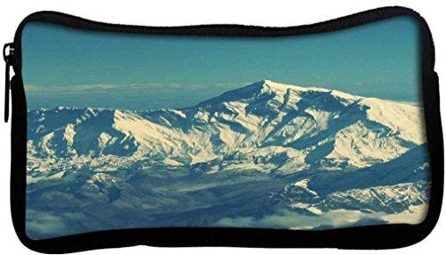 Snoogg Swiss Alpi bellezza tela Student-Penna a sfera, in astuccio con portamonete, multiuso per trucco