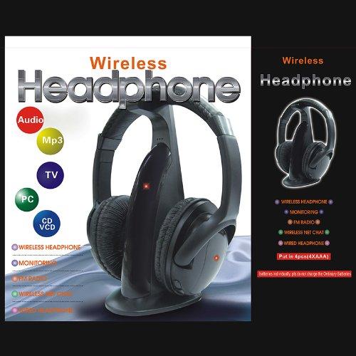 Tomtop 5 In 1 Hifi Wireless Headphone Earphone Fm Radio Monitor Mp3 Pc Tv Audio Mobile Phones front-210725