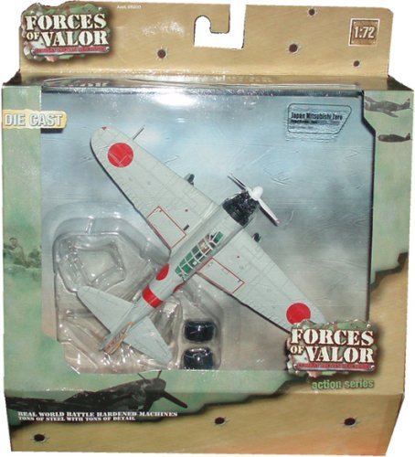 Forces of Valor 1:72 Scale Die Cast Military Combat Proven Machines Battle Hardened Plane - Japan Lightweight Fighter Aircraft Mitsubishi Zero - Pearl Harbor 1941