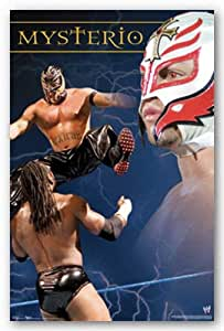 (24x36) Rey Mysterio Action Collage Sports Poster Print