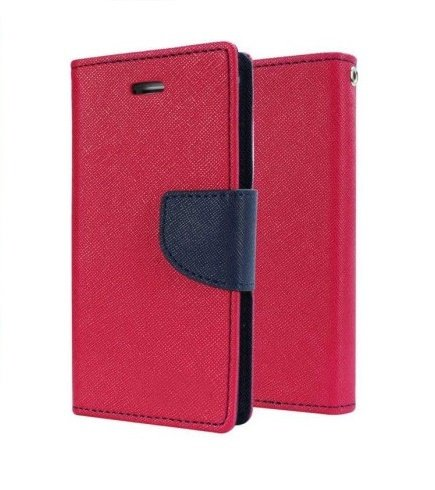 Delkart Flip Cover for Micromax Canvas 2 Colors A120 (Pink & Blue)  available at amazon for Rs.184