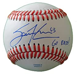 "Cincinnati Reds Sam Lecure Autographed ROLB Baseball Featuring ""Go Reds"" Inscription! Proof Photo"