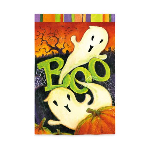 Evergreen Enterprises, Inc. Halloween Garden Flag Boo Ghosts