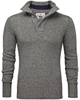 Charles Wilson Heritage Range Button Neck Premium Wool Blend Jumper
