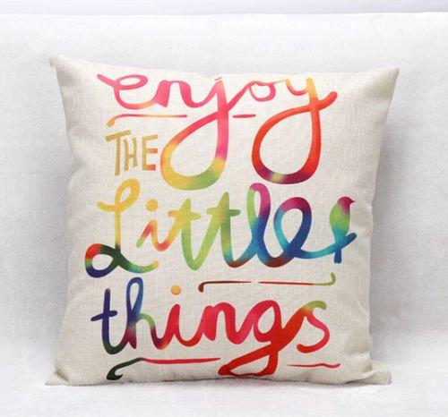 [Enjoy 18'' Home Decor Cotton Linen Throw Pillow Case Romantic Sofa Waist Cushion Cover] (White Trash Costume Ideas Pictures)