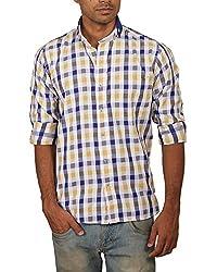 Brumax Men's Button Front Shirt (DFSYC4325 _XXL, Multi-Coloured, XX-Large)