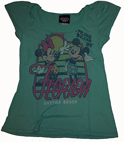 Junk Food Disney Mickey Mouse & Minnie Spring Break Smile Ladies T-Shirt Size Small