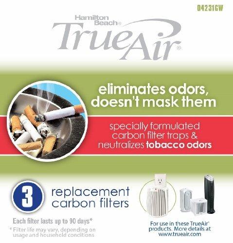 1 X Hamilton Beach True Air Carbon Filter for Tobacco Odors (3 Pack)