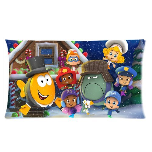 "Wholesale New Hot Cartoon Bubble Guppies Cute Molly Gil Bubble Puppy Hotsales Cartoon Pillow Cases Covers Standard Size 20""X36"" One Side-4 front-922057"