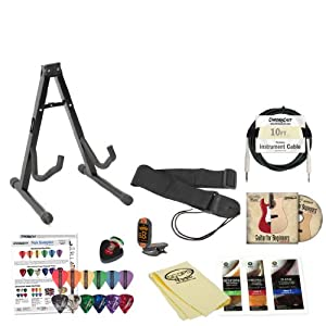 Guitar Accessories Shop In Kandivali West : electric guitar accessory pack w stand strap cable pick holder tuner cloth ~ Vivirlamusica.com Haus und Dekorationen
