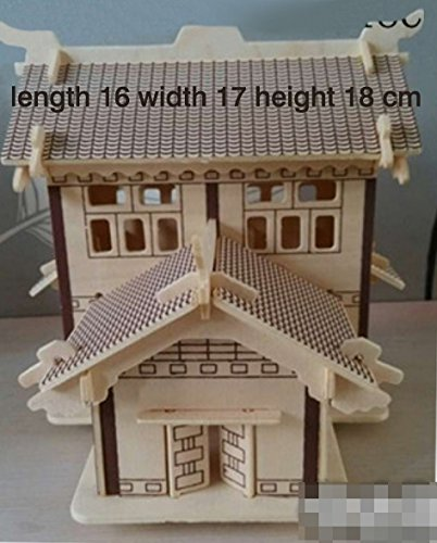 Thinkmax 3D Three-Dimensional Puzzle Wooden House Model,Children'S Educational Toys£¨Scholarly House£© front-264299