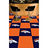 "Denver Broncos 18""x18"" tiles Carpet Tiles Set of 20 Carpet Tiles at Amazon.com"