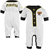 Majestic Pittsburgh Pirates Infant Pinstripe Logo Coveralls - White at Amazon.com