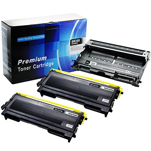 E-Z Ink (TM) Compatible Black Toner & Drum Unit Replacement For Brother TN-350 DR-350 (2 Toners & 1 Drum Unit) (Brother Intellifax 2820 Toner compare prices)