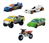 Mattel W2638 Hot Wheels - Pack de 5 vehículos