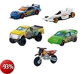 Mattel W2638 - Team Hot Wheels Confezione 5 Veicoli
