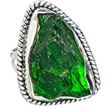Chrome Diopside, Chromo-Diopside Argent Sterling 925 Bague 9