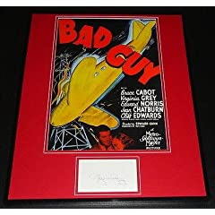 Virginia Grey Signed Framed 16x20 Photo Poster Display Bad Guy - Autographed College...