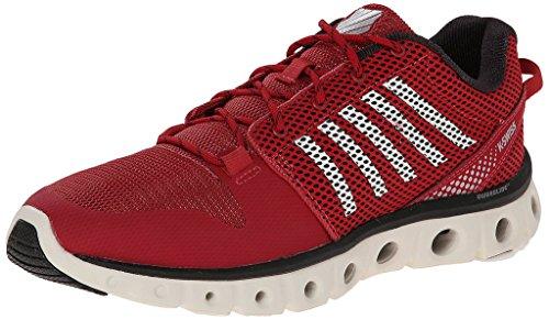 K-Swiss Men's X Lite Lightweight Training Shoe, Cardinal/Bright White/Black, 11 M US