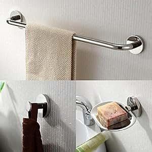 In acciaio inox 3 st ck bagno accessori r set porta for Accessori bagno acciaio inox