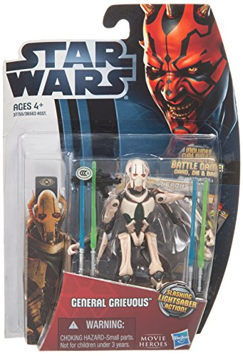 Star Wars Movie Heroes 2012 Action Figure MH07 General Grievous 3.75 Inch