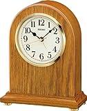 Seiko QXE031B Wooden Mantel Alarm Clock