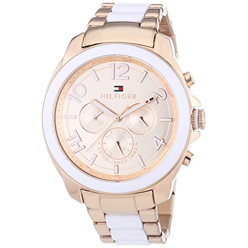 Tommy Hilfiger Serea Women's Quartz Watch with Rose Gold Dial Analogue Display and Rose Gold Bracelet 1781393