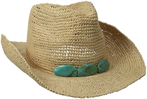 physician-endorsed-womens-trini-crochet-raffia-cowgirl-hat-trimmed-with-string-and-3-stones-memory-w