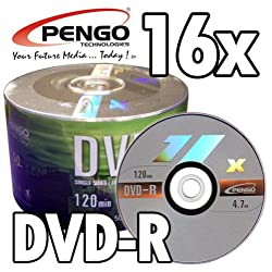 100 Pack 16X Blank DVD-R Disc Media, 4.7GB, 120Min (50 Pack x 2)