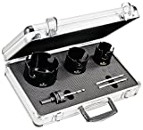 Starrett KMP03031-N 6-Piece Tungsten Carbide Tipped General Purpose MPH Hole Saw Kit with Aluminum Case