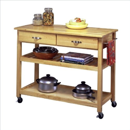 Home Styles Solid Wood Top Kitchen Island Cart 5216-95
