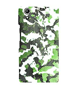 Army Fatigue Pattern 3D Hard Polycarbonate Designer Back Case Cover for Micromax Canvas Selfie 2 Q340