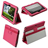 IGadgitz Pink 'Portfolio' PU Leather Case Cover for Asus Eee Pad Transformer TF101 TF101G 10.1