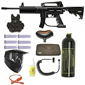 Spyder MR4 Paintball Marker Gun 3Skull Vest Sniper Set