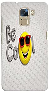 PrintVisa 3D-HH7-D7728 Cartoon Cool Smiley Case Cover for Huawei Honor 7