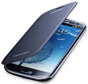 Samsung EFC-1G6FN Etui à rabat en cuir pour Galaxy S3 I9300 Noir