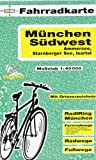 Fahrradkarte München Südwest, Ammersee, Starnberger See, Isartal. 1:40000 Picture