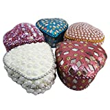 Handmade Gift Box Indian Vintage Style Home Decor Lac Beaded Jewelry Box Table Top Decor Designer Heart Boxes...