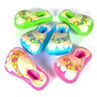 Dozen Inflatable Flip Flop Sandal Feet Assorted Colors